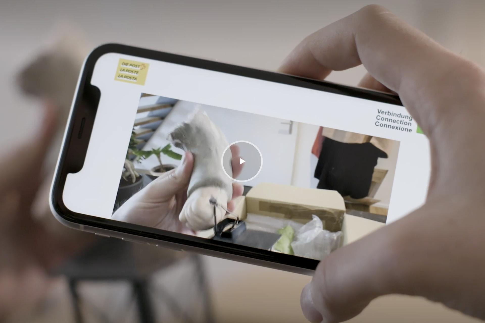 Schweizerische Post kann beschädigte Pakete per Videostream begutachten.